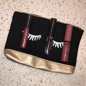 Nyx and Ulta Lippies w/ Ipsy Makeup Bag